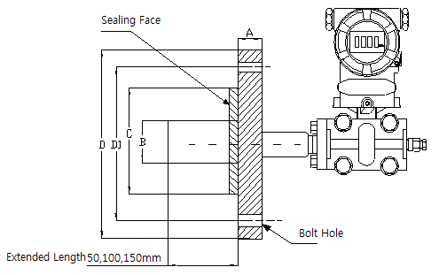 Capacitance Level Transmitter flange