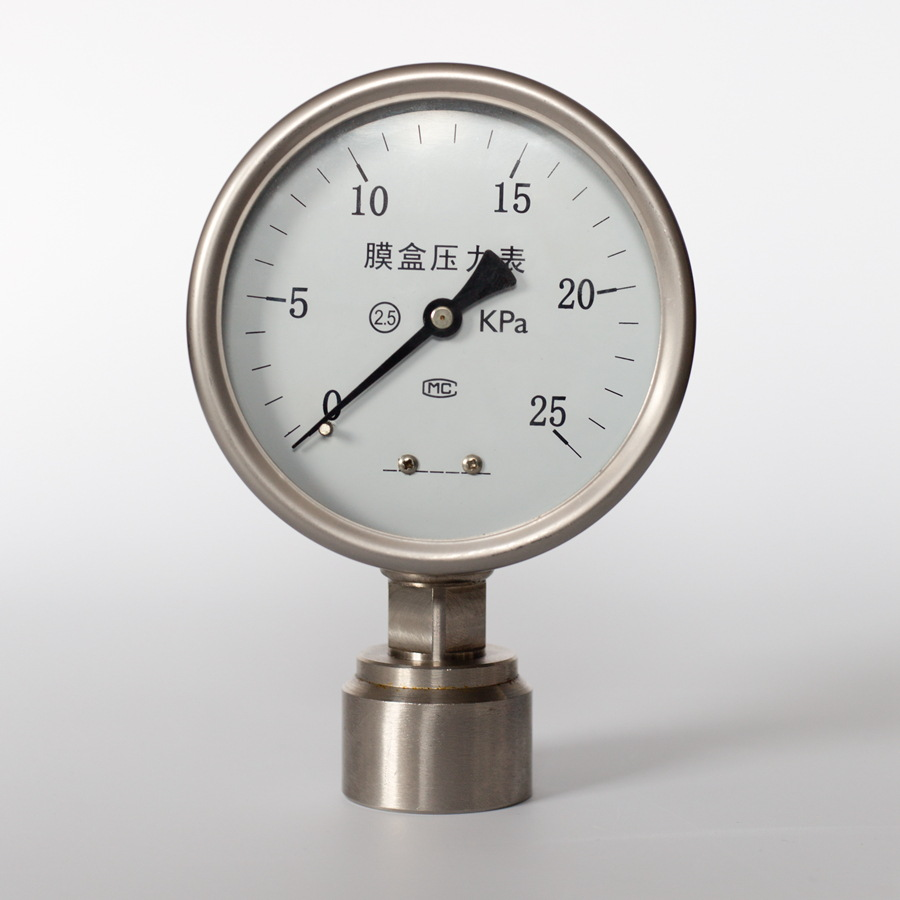 Pressure Measuring Instruments : Diaphragm chemical sealed flush mount sanitary