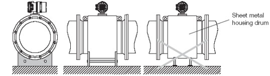 flange-type-flow-meter-base--support