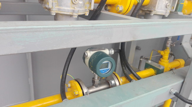 Natural gas flow thermal mass flow meters