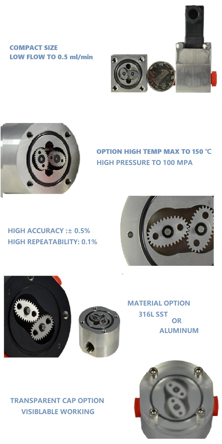 micor oval gear flow meter features