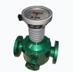 Oval gear flow meter with external heat jacket