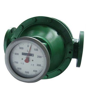 Mechanical register oval gear flow meter