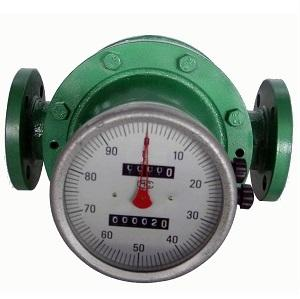 Mechanical Register oval gear flow meter with return to zero counters