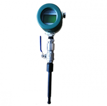 Thermal mass flow meter for corrosive gas