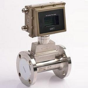 Inline natural gas flow meter