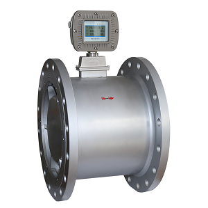In-line large size gas turbine flow meter
