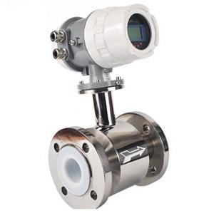 Electromagnetic flow meter for corrosive liquid