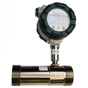 Thread connection liquid turbine flow meter