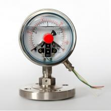 Oil filled electric contact pressure gauge with diaphragm seal