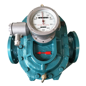 Oval gear flow transmitter