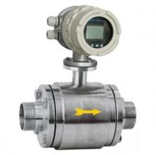 Threaded magnetic flow meter