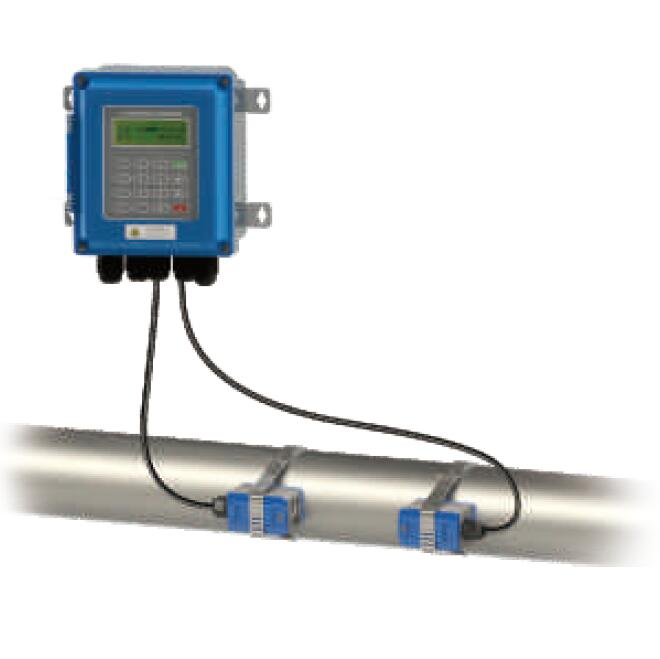 Clamp on ultrasonic water flow meter